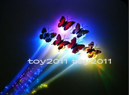 Wholesale Plastic Heart Lights Up - Colorful LED Light Up Crown Butterfly Ribbon Heart Hair Braid Shine flash Glow Gadgets hair masquerade for Party Disco