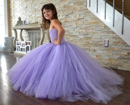 Wholesale mop ball - Children Evening Dress Bubble Skirt Children Evening Dress Girls High-grade Net Yarn and Waist Mop the Floor Dress Kids Slim Bubble Skir