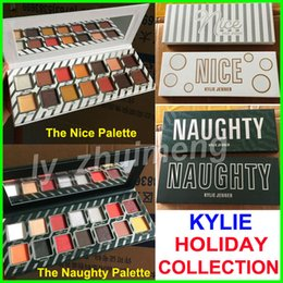 Wholesale Collections Gifts - Factory Direct Kylie Eyeshadow Naughty or Nice Palette Cosmetics 14 Color The holiday Collection Eye shadow Palette Christmas gift free