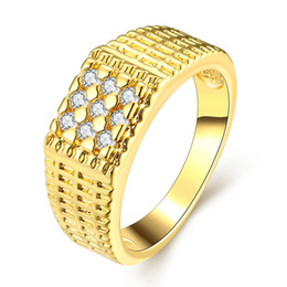 Wholesale Genuine Crystal Rings - New Womens Mens Ring Europe Style Fashion Jewelry Paved Genuine Clear Crystal Size 9 Statement Accessories