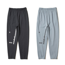 Wholesale Elastic Capris - Kanye West Season 5 Jogger Pants Calabasas Print Cotton Sweatpants Men Black Gray Casual Trousers Hip Hop Skateboard Bottoms Pant PXG1107