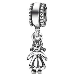 Wholesale Pandora Baby Charms - 925 sterling silver baby girl shaped beads European charm pendants charming fit Pandora Bracelet snake chain jewelry