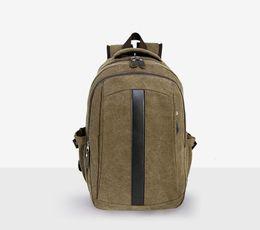 Wholesale Unique Canvas Backpacks - Men canvas backpack large unique casual daily traveling rucksack teenegar schoolbag haversack hike double shoulder male bag