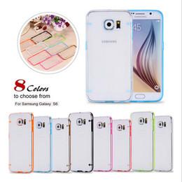 Wholesale Glow Bumper - For Samsung Galaxy Note5 S7 S6 EDGE Plus HTC One M9 Glow in Dark Luminous TPU Gel Bumper Hybrid Hard Clear skin cover case 100pcs 200pcs