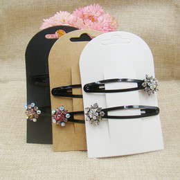 Wholesale New Look Hair - New Hair Clip Card1LOT 50 Cards Jewelry Display Card New Style Hot Look Fashion NEW Choose 300gsm Paper Cardboard Make