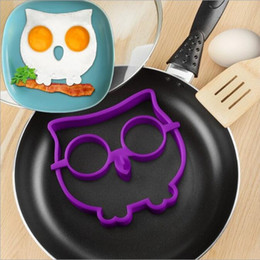 Wholesale Owl Silicone Mold - Food grade silicone Novel Trendy Silicone Skull  Owl Rabbit FRIED Silicone Fried Egg Mold Pancake Egg Cooking Tool free shipping HK59