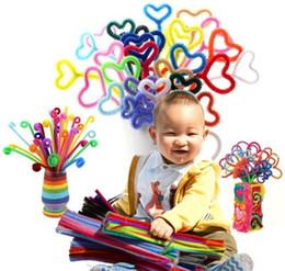 2019 tubo de chenilla tallos 100 unids 6 mm de color mezclado chenilla tallos limpiadores de tuberías Montessori niños juguetes educativos artesanía colorido Diy peluche para niños b939