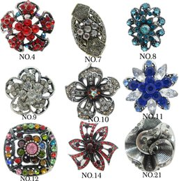Wholesale Diamond Adjustable Rings - 2015 New Vintage Mix Style Rings For Women Christmas Bridal Sets Geometric antique silver Zinc Alloy Diamond Wedding Rings adjustable