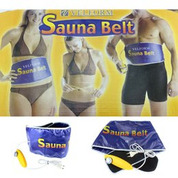 Wholesale Slim Belt For Weight Loss - 2016 New Heating Beauty Slimming Diet Products Health Care Body Wrap Massager Massage Sauna Exercise Belts For Weight Loss Belt