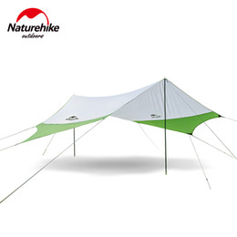 Wholesale Play Sun - Wholesale- Naturehike Large Camping Tent Awning Sun Shelter with pole Beach Playing Games Fishing Hiking Outdoor 5 Person Tent Sun Shelter