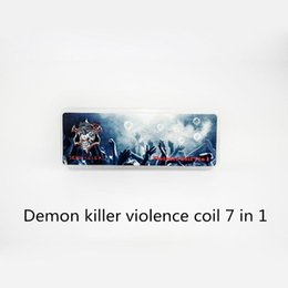 Wholesale Built Fit - Demon Killer Violence Coil 7 in 1 Demon Killer Pre-built Alien 2 Staple Staggered Fused Clapton Tsuka Coil Clapception 28 pcs fit Atomizers