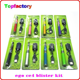 Wholesale Electronic Cigarette Battery Color - Ego CE4 Electronic Cigarette Blister kit ce4 atomizer 650mah 900mah 1100mah battery in Blister pack various color good quality DHL Fast Free