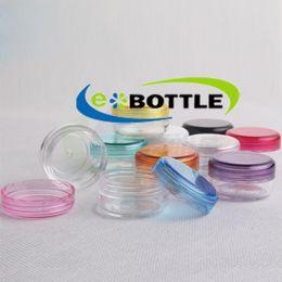 Wholesale Lip Balm Container Wholesale - 100pcs lot 3g Cosmetic Empty Jar Pot Eyeshadow Makeup Face Cream Lip Balm Container Bottle cosmetic bottle packaging