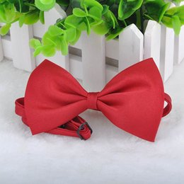 Wholesale Dropship Tie - 9 Colors Cute Lovely Pet Dog Bowknot Tie Bow Necktie Collar, Pet Clothing Dog Cat Puppy, Free Shipping Dropship Y52*MPJ141#M5
