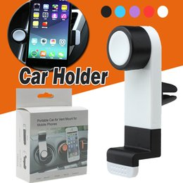 Wholesale Frame For Cars - Universal Portable Car Air Vent Mount Mobile Phone GPS Holder Frame 360 Degree Rotating For iPhone X 8 7 Plus 6 6S Smart Phone With Package