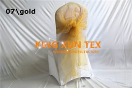 Wholesale Organza Hoods For Chairs - Wholesale Price Organza Chair Cap Hood \ Chair Sash Fit For Bnquet Wedding Lycra Spandex Chair Cover