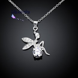 Wholesale Party Tinkerbell - High Quality New Style Fashion Jewelry Silver Plating Pendant Necklace Cute Tinkerbell N070