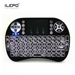Wholesale Air Wireless - 2.4G Wireless Backlit Keyboard Mini Rii i8 With TouchPad Air Mouse Backlight Game Keyboard for Mini PC Tablet Android tv box