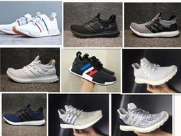 Wholesale B Lights Plastic - Big Size Ultra Boost 2.0 3.0 4.0 UltraBoost mens running shoes sneakers women Sport Tri-Color NMD R2 CNY Snowflake Core Triple Black White