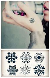 Wholesale Temporary Snowflake Tattoos - Wholesale-Body Art waterproof temporary tattoos for men women Fresh 3d snowflake design flash tattoo sticker Free Shipping HC-015