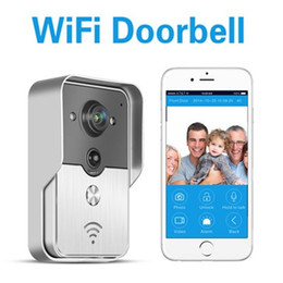 Wholesale Ip Phone Intercom - TOP quality Wireless Wifi Video Intercom Doorbell Camera Wireless IP Phone Control Doorbell for Safety Protection Free Shipping