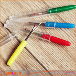 Wholesale Seam Rippers Wholesale - 2016 Hot Plastic Handle Craft Thread Cutter Seam Ripper Stitch Ripper Sewing Tool, New Free Shipping