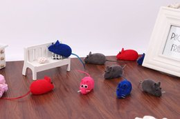 Wholesale Realistic Mouse - Pet sound toys pet cat toy mice audible sound very realistic multicolor mixed batch of color random hair free shipping