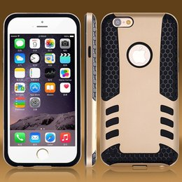 Wholesale Rocket Shells - For iphone 6 Unique Design Cool Luxury Rocket Armor Case For iPhone 6 Plus Back Cover Dual Layer Portable Slim Silicon Shell Bag