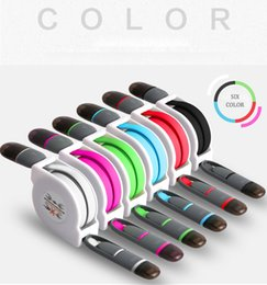 Wholesale multi data - Multi Function Xmas Gift Colorful Quick Charging Flexible Noddle Retractable Charge Data 2 in 1 USB Cable for Iphone and Android