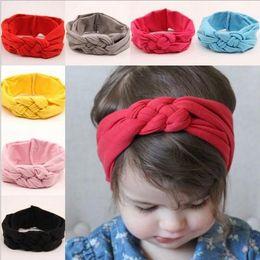 Wholesale Braided Hair Headband - 2015 Baby Girls Hair Braided With Children Safely Cross Knot Hair Accessories Headband
