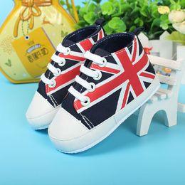 Wholesale Union Baby - Wholesale- 2016 spring antiderrapante baby first walker shoes Union Jack zapatos de bautizo de ninas high quality Soft bottomscarpe