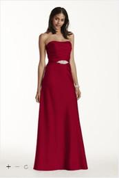 Wholesale Dark Blue Crystal Wedding Belt - 2017 Strapless Long Satin Bridesmaid Dresses sash beaded A-Line Dress with Crystal Belt F17034 Wedding Bridesmaid Formal Dresses