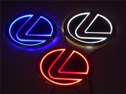 Wholesale El Car Lights - New 5D Auto standard Badge Lamp Special modified car logo LED light for Lexus LS270 RX450h CT200h EX250 GS300 ES300 ES240 DS350