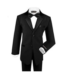 Wholesale Bow Ties For Little Boys - Little boys suits for wedding formal occasion boys suits tuxedos fashion two button three-piece boys tuxedos(jacket+pants+jacket+bow tie)