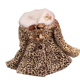 Wholesale Faux Fur Leopard Coat - Girls Winter Coat Children Outwear Leopard Faux Fur Coat Autumn Jackets for Girls Casual Clothes Baby Thick Fleece Warm Clothing