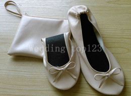 Wholesale Pink Promotional Items - Gold Foldable Bendable Slippers & Flats Wholesale for Weddings, favors & Corporate & Promotional Items shoes
