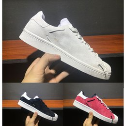 Wholesale Black Knotted Mesh - 2018 Y3 super knot Superstar Men Women stan smith Yohji fashion design all White Black Burgundy Runner hiking walking running shoes sneakers