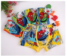Wholesale Cotton Boxer Boy - free shipping baby underwear boy boxers shorts cartoon Spider-Man printed Panties lovely design 5 pics a lot wholesale 1-051x8