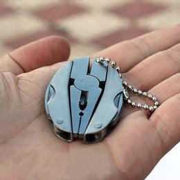 Wholesale Knife Key Rings - Key Rings Camping Portable Outdoor Mini Foldaway Multi Function Tools Set Pocket Keychain Pliers Knife Screwdriver Key Chain Llaveros