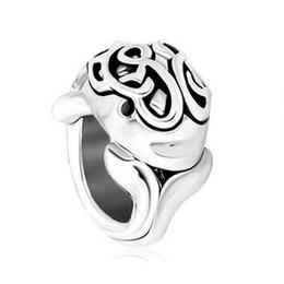 Canada Personnalisé bijoux femme Dauphin Antique Avec Motif Celtique Perle Charme en Métal Bracelet Dames avec grand trou Pandora Chamilia Compatible Offre