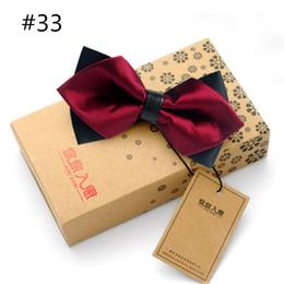 Wholesale Tie Cravat Slim - 27 Styles 2016 Hot Sale Slim Bow Tie Mens Butterfly Cravat Bowtie Male Solid Color Marriage Bow Ties for Men Blusa Feminina