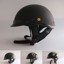 Wholesale Choppers Bike - free shipping Professional Harley Style Motorcycle Helmet DOT approved Half Face motorbike helmet Chopper bike Headgears
