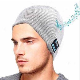 Bluetooth Musique Chapeau Doux Chaud Beanie Cap avec Stéréo Casque Casque Haut-Parleur Sans Fil Microphone Livraison Gratuite ? partir de fabricateur