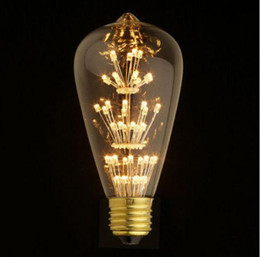 Wholesale 27 Led Light Bar - ST64 E26 27 110V 220V 3W Vintage Retro Filament Edison LED Bulb Warm White Perfect Decorate For Home,Shop Bar Light