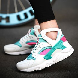 Wholesale Sneakers Platform For Woman - Platform Sneakers Women Fashion Trend Running Shoes For Woman Breathable Pu Linings Cushioned Outsole Womens Sports Sheos Retail H563