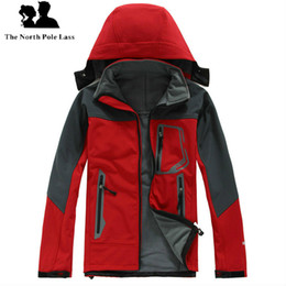 Wholesale Apex White - Outdoor Winter Men's Hoodies SoftShell Jackets Fashion Apex Bionic Windproof Waterproof Thermal For Hiking Camping Ski Down Sportswear S-XXL