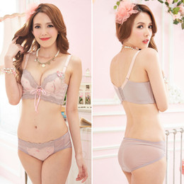 Wholesale High Quality New Bras - New 2015 high quality brands solid Women's Sexy Lace Bra And Pants Set, four breasted push up girl lingerie underwear sets