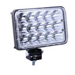 """Wholesale Hid High Beams - 1 Pair 4x6"""" LED HID Cree Light Bulbs Crystal Sealed Beam Headlamp Headlight Set"""