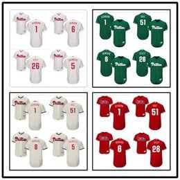 Wholesale Xxl Majestic Baseball Jersey - custom Men's Majestic Philadelphia Phillies 1 Richie Ashburn 6 Ryan Howard 26 Chase Utley 51 Carlos Ruiz many style jerseys