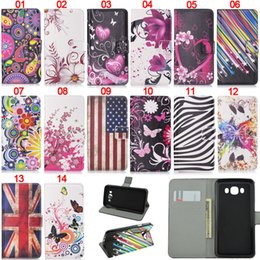 Wholesale galaxy s4 case cartoon - For Samsung Galaxy S7 Edge S6 S5 S4 S3 Note 5 Wallet Leather TPU Phone Case Flower Cartoon Letter Patchwork Cover Card Slot